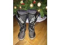 Kids motocross boots size 11.5