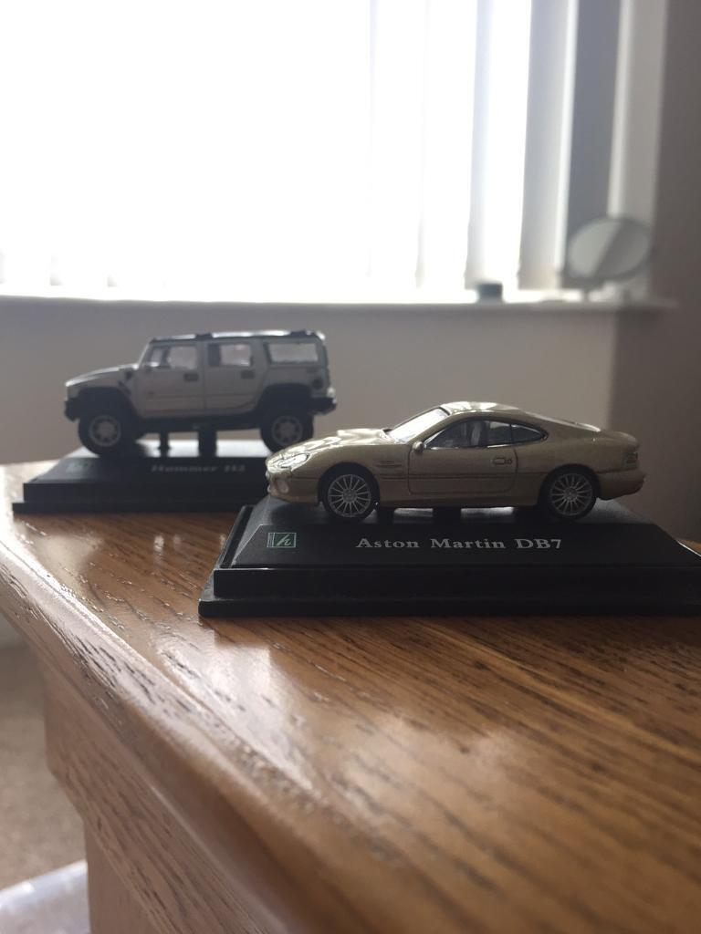 Die cast model carsin Brundall, NorfolkGumtree - Hummer H2 and Aston Martin DB7 die cast model cars. It doesnt say the scale size of them yet they are ever so small. Message me if you have any questions what so ever. £10