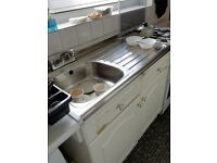 Kitchen stainless steel sink in good condition with taps for only £7