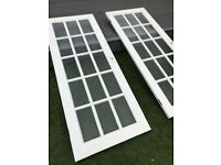 Glazed internal door set