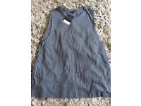 Grey tea shirt from top shop size 12