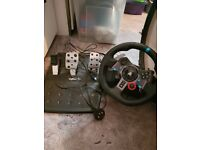 Logitech g29 steering wheel with home made stand