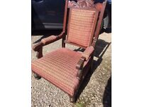 victorian edwardian armchair lovely and comfortable good condition