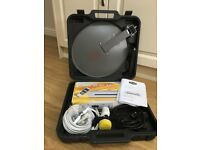 Portable Digital Satellite Receiver in compact case – ideal for Caravan/camping