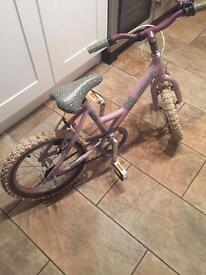 "Girls Raleigh Mountain bike for sale. 16"" wheels"