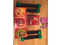 Zumba Fitness DVD and 4 x 1lb toning sticks