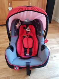 Immaculate Mickey Mouse Baby Car Seat