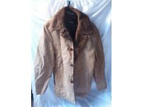 Mens vintage fur lined jacket