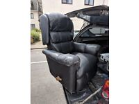 Black Leather Lazy Boy Arm Chair