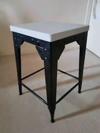 Grey Farrow & Ball Painted Zara Side Table.