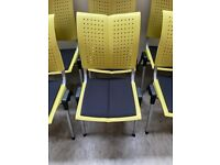 HAG Conventio Wing 9821 Chair, Yellow, Stacking, Office, Meeting, Boardroom