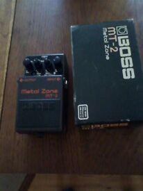 Boss Metal Zone MT-2 with diesel Mod