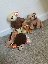 Collection of 5 beanie babies