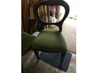 Old ballon back chairs