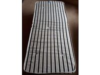 Folding single guest bed with mattress and duvet