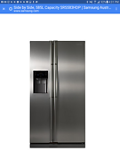 Samsung side by side fridge/freezer. Water and ice dispenser Palm Cove Cairns City Preview