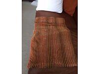 3 Cushion Covers - Striped brown/orange