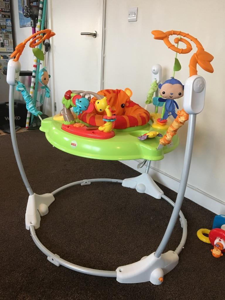 d15c5e0a60d2 Fisher Price Rainforest Jumperoo Baby Bouncer
