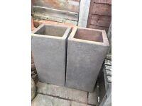 Large garden pots x 2