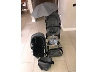 Excellent Stokke Black Melange Pushchair/Car Seat/Bag/Rain Cover/Cup Holder/Umbrella BUNDLE SET