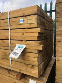 🌻 4 X 2 X 4.8M Wooden Easy Edge Lengths/ Rails - New