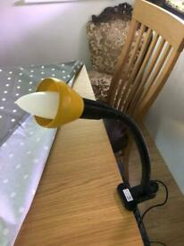 Clip on table light