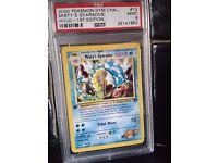Pokemon card - PSA Graded 9 MINT 1st Edition Gym Challenge Misty's Gyarados