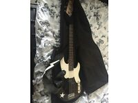 Mike Dirnt Fender Precision Bass with soft case, strap and amp