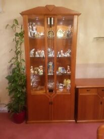 Beautiful Solid Wood Display units in mint condition