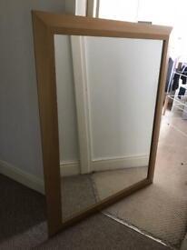 Gold framed mirror - large