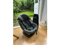 Maxi-Cosi AxissFix Plus Group 0+ and 1 Car Seat, Sparkling Grey - 360° swivelling seat