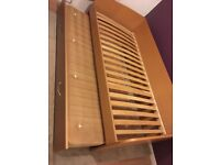 Excellent Condition Single Bed with Pull Out Second Bed - Wood Frame