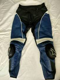 Alpinestars motorcycle leather trousers