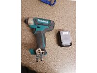 Makita impact driver 10.8v with new battery