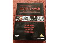 2x war DVD, excellent condition. One with 4 classic war films, the second is the world at war.