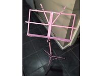 Windsor folding music stand *brand new* Pink