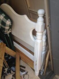 Bed frame king size pine