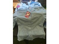 55 Girls Blue Fitted Blouses 11-16
