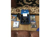 PS4 wireless headset (un used) Cod Infinite warfare, Cod BO3, Star Wars battlefront & minecraft £60