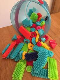 Stickle Bricks Bucket - Jungle Adventure