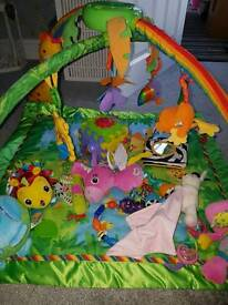 Fisher price play gym and toys