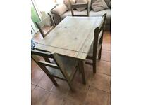 Table dining kitchen unit with 4 chairs