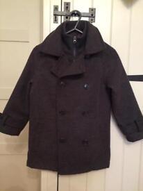 Boy's charcoal blazer style coat, age 7-8