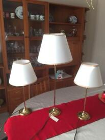 Bedside lamps and matching table lamp