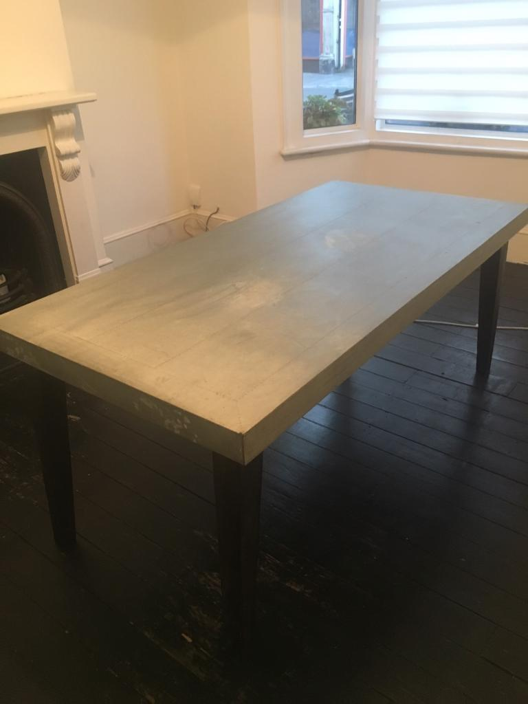 Zinc Dining Table French Industrial Zinc Dining Table French Connection In South Croydon