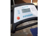 Electric foldin york treadmill v.g.c clean tidy works like new very heavy