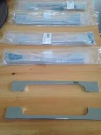 Kitchen handles cost £17 a pack (2 in pack) in B&Q 5 packs for £20 bargain.