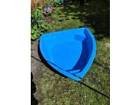 Kids Plastic Boat Paddling Pool / Sandpit - with cover