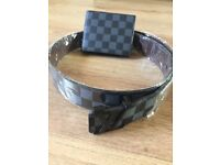 Real leather Louis Vuitton wallet and belt