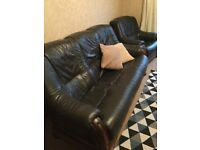 3 piece suite charcoal grey Leather